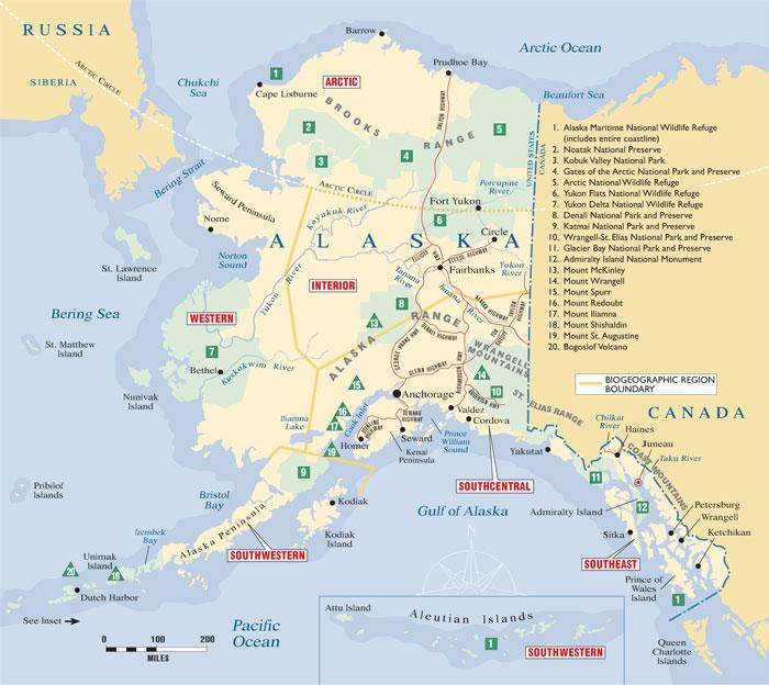 AlaskaKids - Map of northwest us and alaska