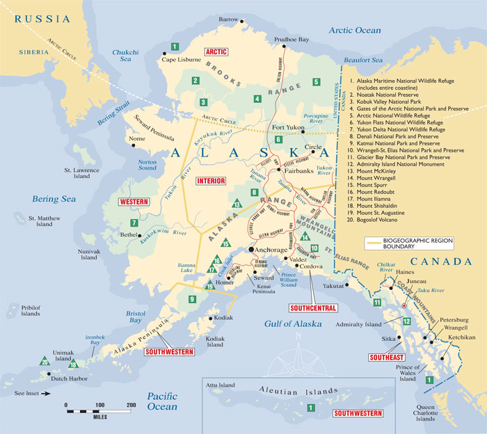 AlaskaKids - Alaska map with cities and towns